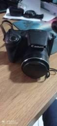 Camera Canon com todos acessórios originais