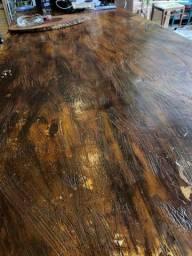 Transformamos concreto em madeira