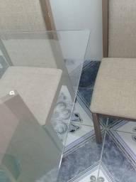 Título do anúncio: Mesa de vidro 4 cadeiras