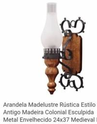 Arandela Medieval Rústica Madelustre