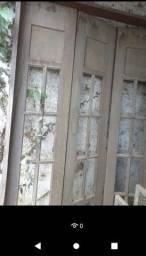 Porta de madeira balcão