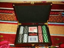 Estojo jogo de poker com 200 fichas numeradas linha poker chip lacrado