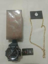 Kit total Relógio/corrente/perfume parcelo no cheque