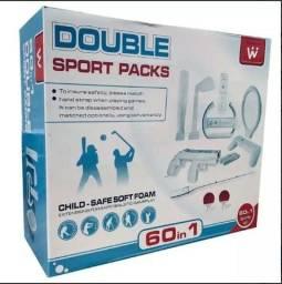 Nintendo Wii Acessórios Esportivos Para Console Wii 60 In 1 - Double Pack