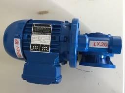 Redutor 1x20 c/ motor elétrico Weg 0,25cv 4 pólos trifásico 220/380v