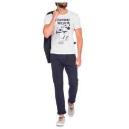 Camiseta Ellus Masculina Light Fine Mickey Streamboat Classic