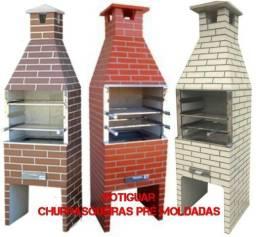 Churrasqueira pre moldada modelo tijolinho, a partir de R$630,00, já com KIT INOX COMPLETO