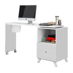 Escrivaninha com tampo giratório 1 gaveta - Direto da fabrica compre já