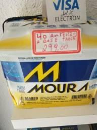 Bateria Moura 40 amperes a base de troca entrega grátis na região