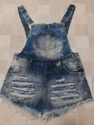Desapego jardineira jeans
