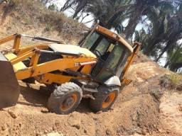 Retrô escavadeira JCB 2015 traçada
