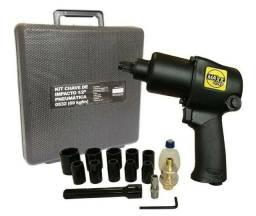 Chave de impacto pneumática Max tools Sigma  com kit 69kg profissional