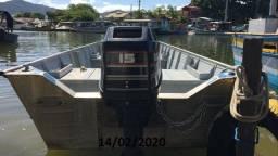 Barco alumínio motor Mercury 15hp super exclusivo