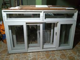3 janela maciça em canela