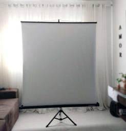 Tela de projeção tripé - Visograf