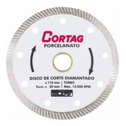 Disco Diamantado Fino P/ Porcelanato 105mm X 20mm Cortag