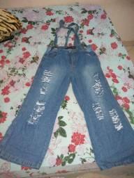 Meia calça pantalona e macaquinho TB patalona