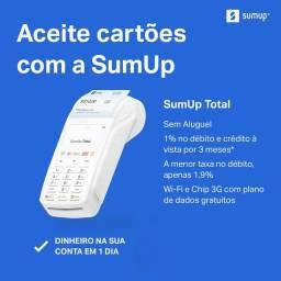Máquina de cartão SumUp Total, On e Top