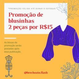 BLUSAS SEMI NOVAS (DUAS POR 15 REAIS)- BRECHÓ FLASH