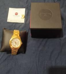 Vendo relógio technos folheado a ouro