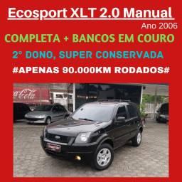 Ecosport XLT 2.0 2006 Manual / Completa com Bancos em Couro/ Baixa Km
