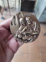 Medalha em bronze, sagrada família