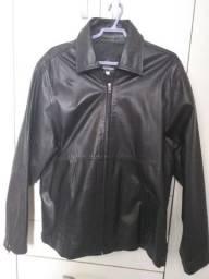 Jaqueta de couro bovino legítimo