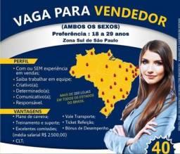 Vaga de Emprego - Vendedor (a)