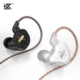 Fone de ouvido com fio e microfone KZ Edx Lacrado