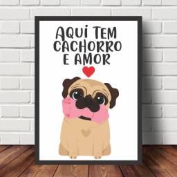 ***Leia*** Quadros Decorativos Personalizados Frases Pets