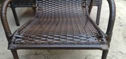 Cadeiras de fibra sintética