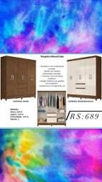 Título do anúncio: guarda roupa cuba castanho wood