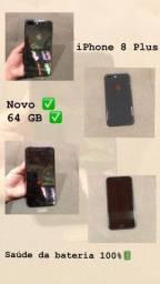 iPhone 8 Plus 64GB Bateria 100 Saude