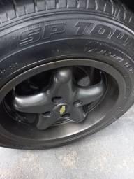 Título do anúncio: Rodas 14 tala larga com pneus 175/65 14