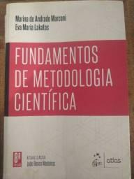 Livros fundamentos de metodologia científica e estatística fácil usados.
