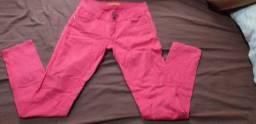 Calça jeans rosa tamanho 38