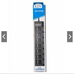 Título do anúncio: Hub Usb 7 Portas 2.0 Alta Velocidade Extensor para Pen Drive,mouse e teclados