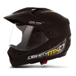 Capacete Motocross Preto Fosco Pro Tork- Tamanho 58