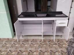 Pia Balcão de pia 1,60m com tampo de marmorite/Novo