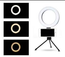 Ring light iluminador com suporte para celular<br>