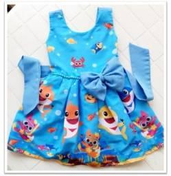 Lindo vestido do Baby Shark