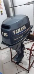 Título do anúncio: Motor de Popa Yamaha 15 hp, 4 tempos