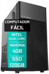 Computador Intel Pentium Dual Core 4GB Ram SSD 120GB