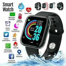 Relógio Smartwatch D20 Y68 À Prova D 'Água Com Rastreador De Frequência Cardíaca.