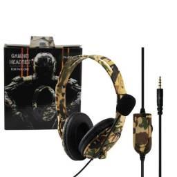 Fone De Ouvido Gamer Headset P4-890 Pro (Produto com garantia ,novo) + cabo adaptador pc