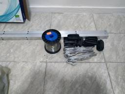 Haste 25x25 1mt Canto alumínio com 6 Isoladores e esticadores e arame inox de 70mm