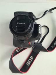 Título do anúncio: Canon T7i + duas lentes + cabo + bolsa