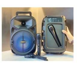 Título do anúncio: Caixa De Som Bluetooth Portátil Potente Grande 30CM Com Microfone Completa