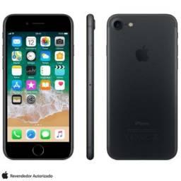 iphone 7 32 gb preto fosco (de vitrine) + brinde smartwatch d20