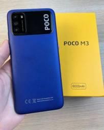 Xiaomi Poco M3 10X S/Juros 64GB/128GB 4 RAM Loja Fisica + 1 Ano de Garantia Lançamento
